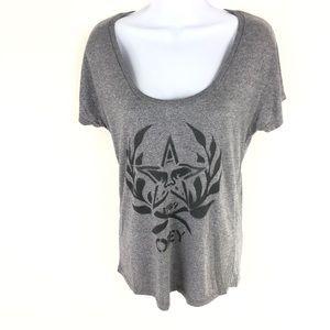 Obey Women's Gray T-shirt M